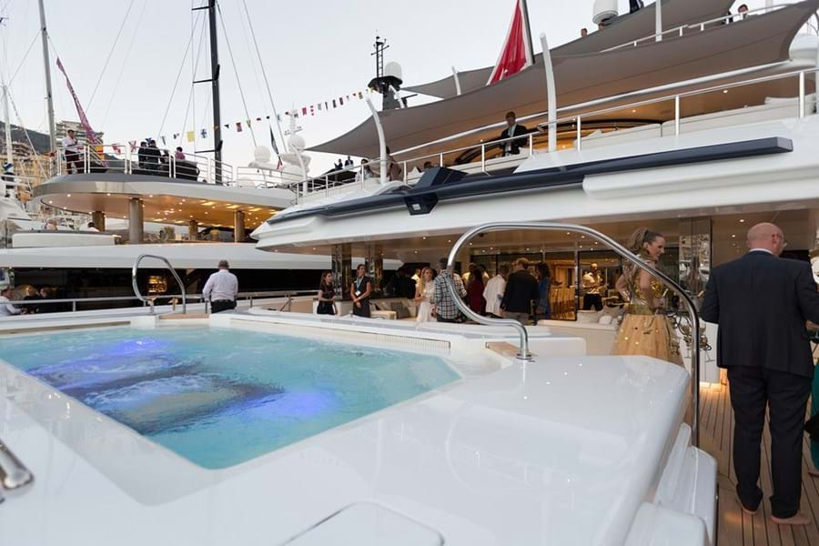 Most charter yachts have a guest limit of 12 for cruising but can entertain many more in port