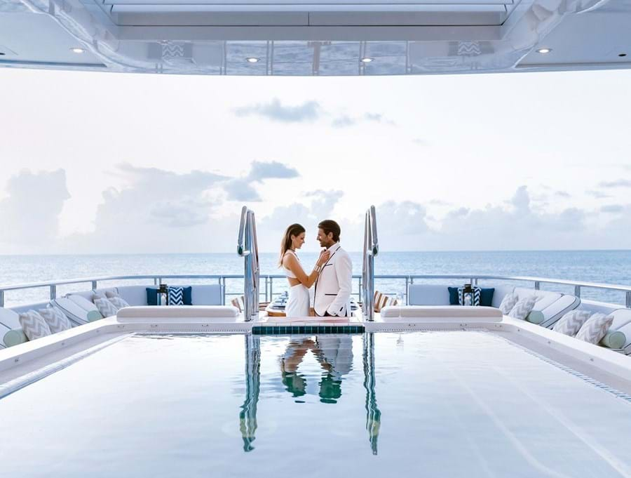 Say goodbye to your wedding guests and spend an unforgettable honeymoon aboard