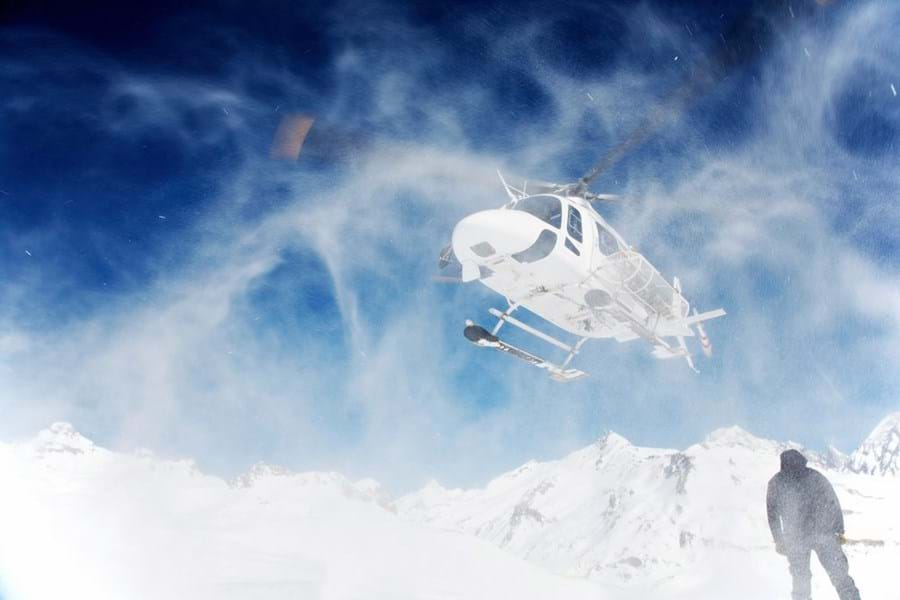 Heliskiing is becoming increasingly popular
