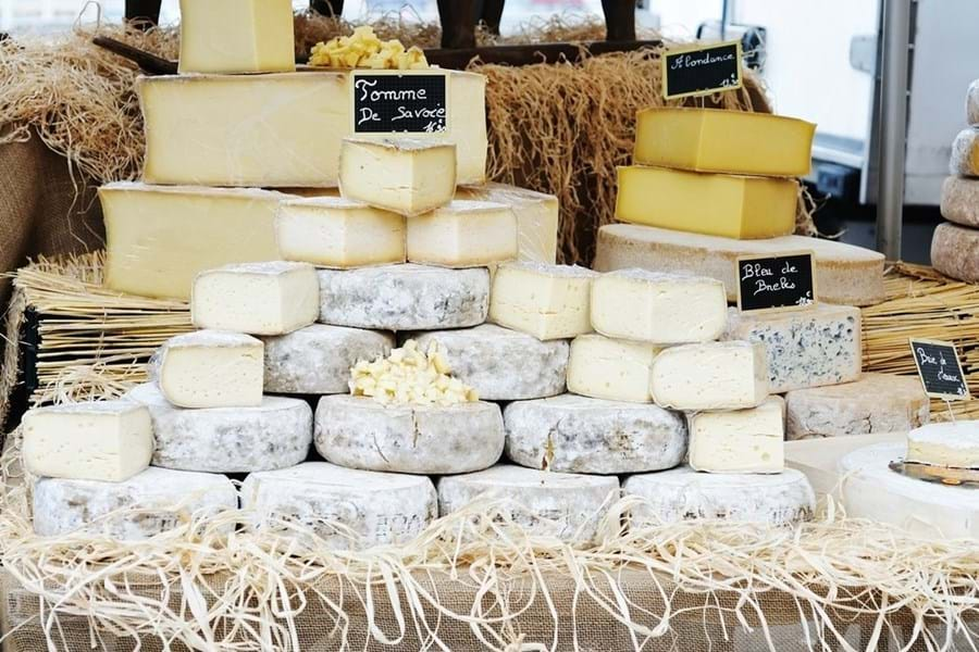 A selection of cheeses from the French Alps