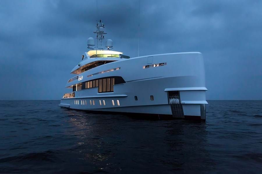 The 49m Heesen HOME is our first hybrid charter CA yacht