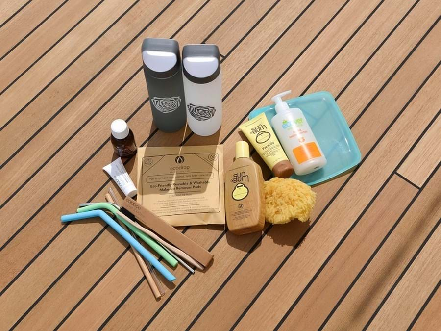 RAMBLE ON ROSE is making changes: reusable water bottles, reef-safe sun cream, bamboo toothbrushes, silicone straws