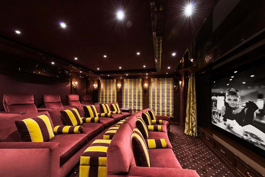 INVICTUS has a dedicated and super comfortable cinema room
