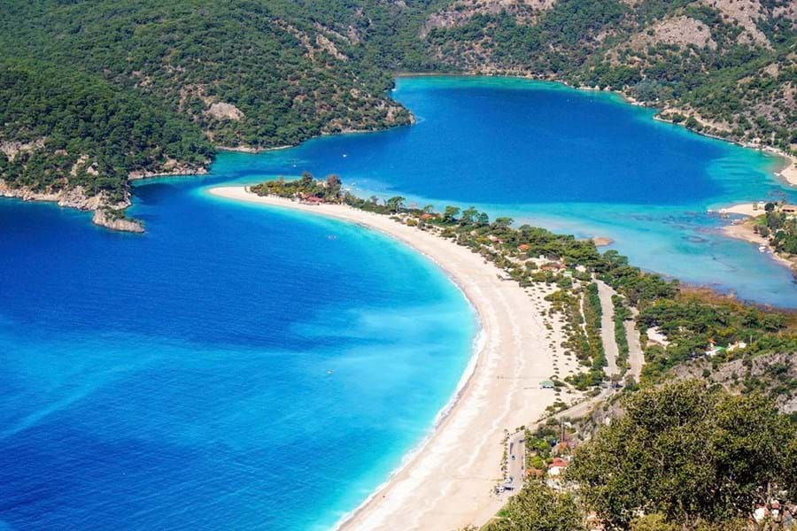 Oludeniz beach in south west Turkey is a great place to drop anchor and paddle into the bay