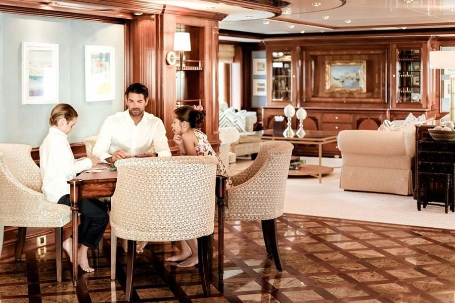 Enjoy books, board games and e-sports on board