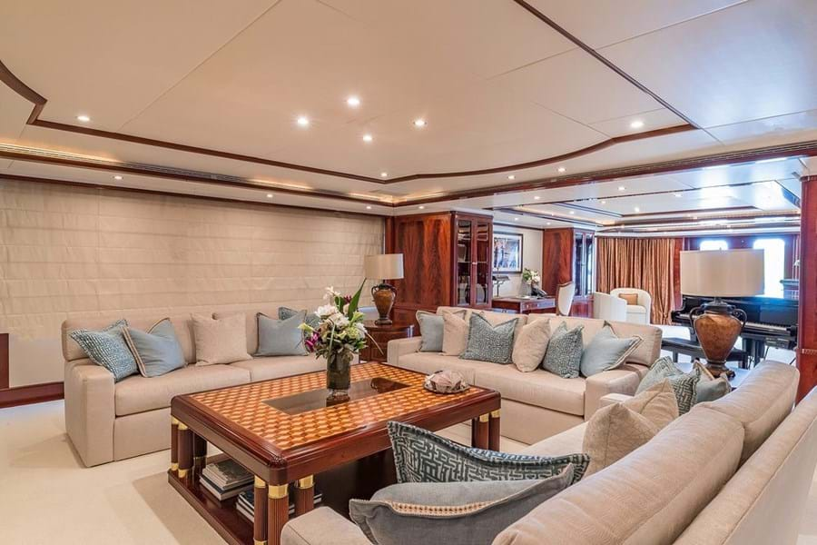 Looking aft in the main saloon