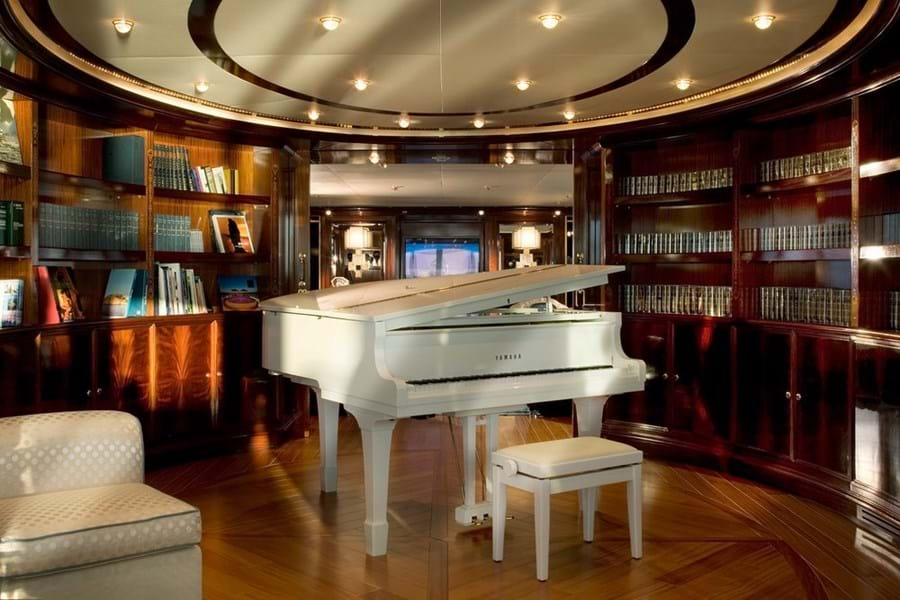 The main deck music room