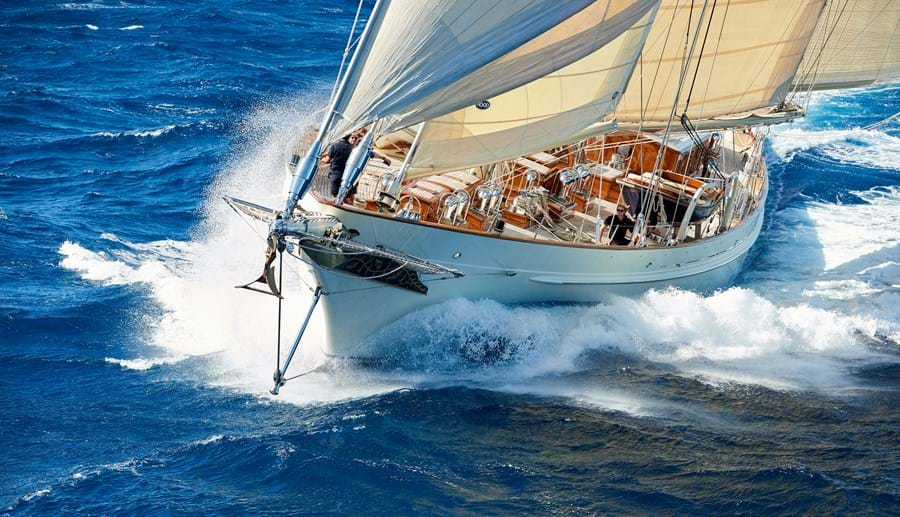 Her easily managed sail plan and sleek hull deliver sparkling performance