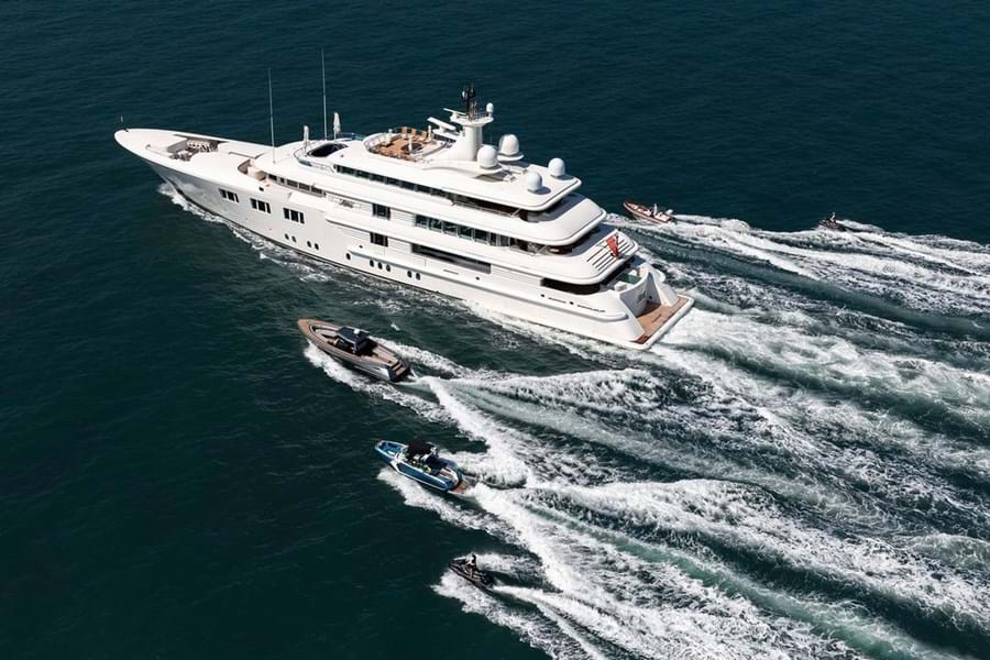 A highly professional crew and a great selection of watertoys made LADY E (above and below) a popular charter yacht in Asia