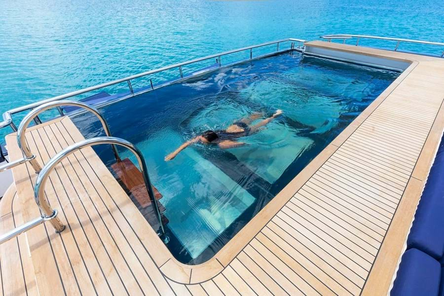 The large pool on the main deck aft