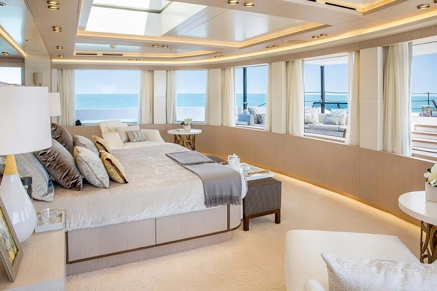 An owner's suite with panoramic views