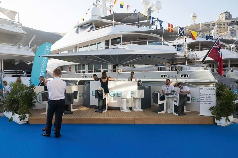 Our espresso bar at Monaco Yacht Show 2019 was built by Ecobooth with decking by Lignia