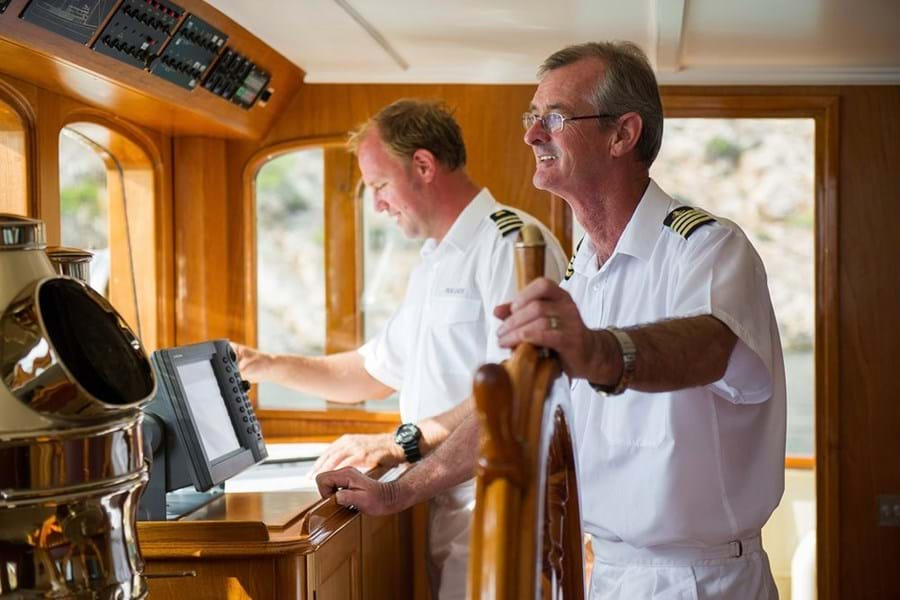Captain David Richardson has been at the historic helm of FAIR LADY since 2008 and last cruised her around the Western Isles in 2015