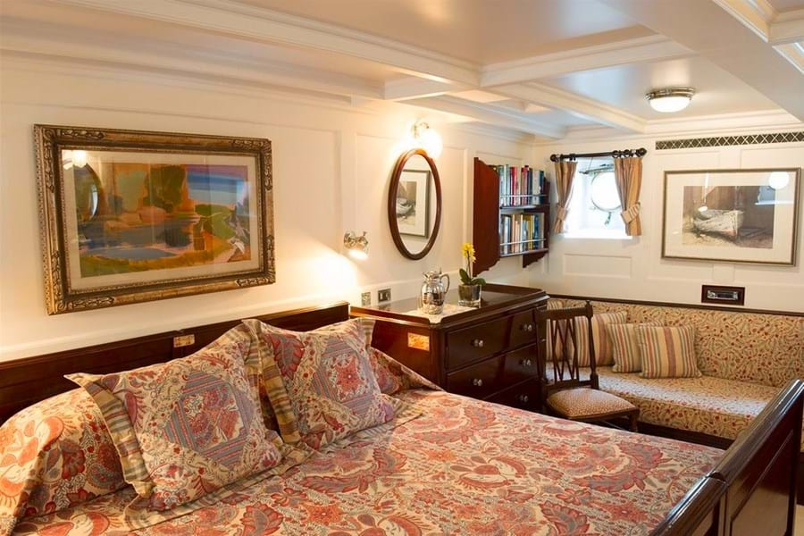 The full beam master suite oozes character and period style
