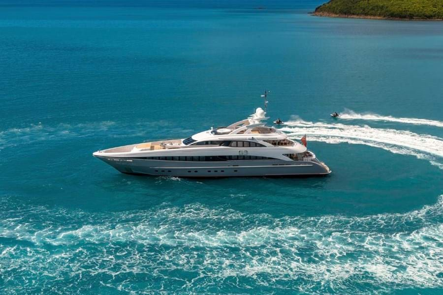 The yacht G3 will be available for charter near the event