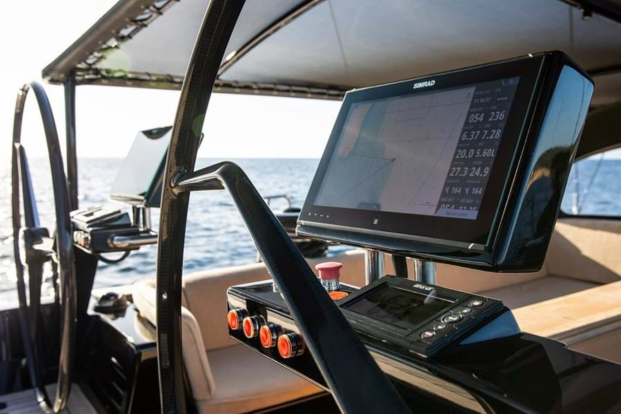 Navigation electronics are by B&G and Simrad, both top of the range Navico brands