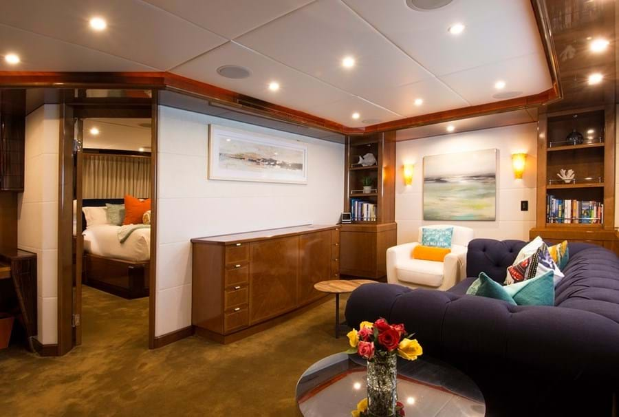 ...along with a dedicated lounge or office, providing a retreat or workspace while on board