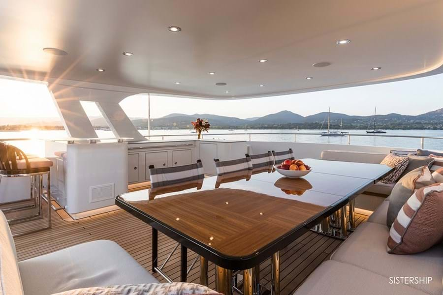 Spacious, shaded sun deck