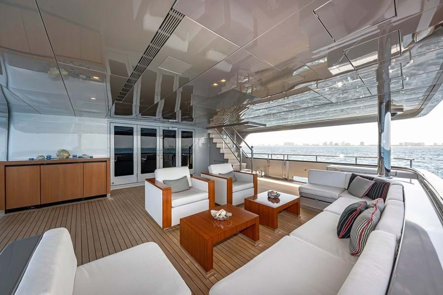 Lounge area on the main deck aft