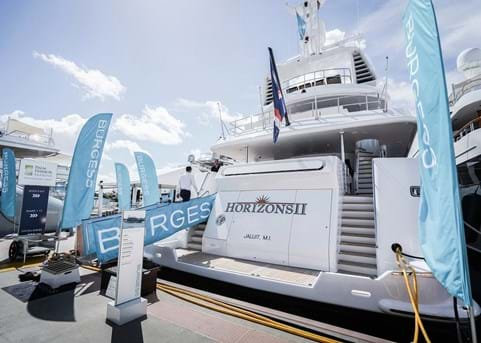 Burgess at the Palm Beach International Boat Show 2020