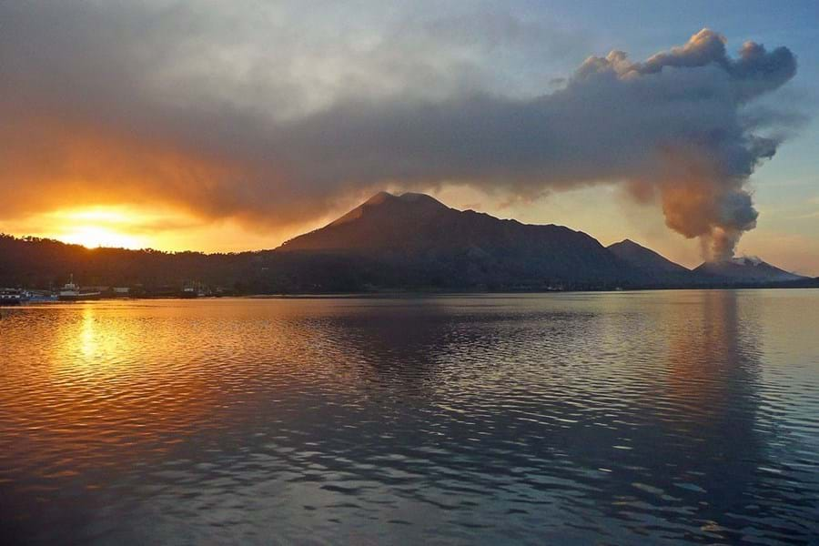 Tavurvur, on the Rabaul caldera, is one of the most active volcanoes in Papua New Guinea
