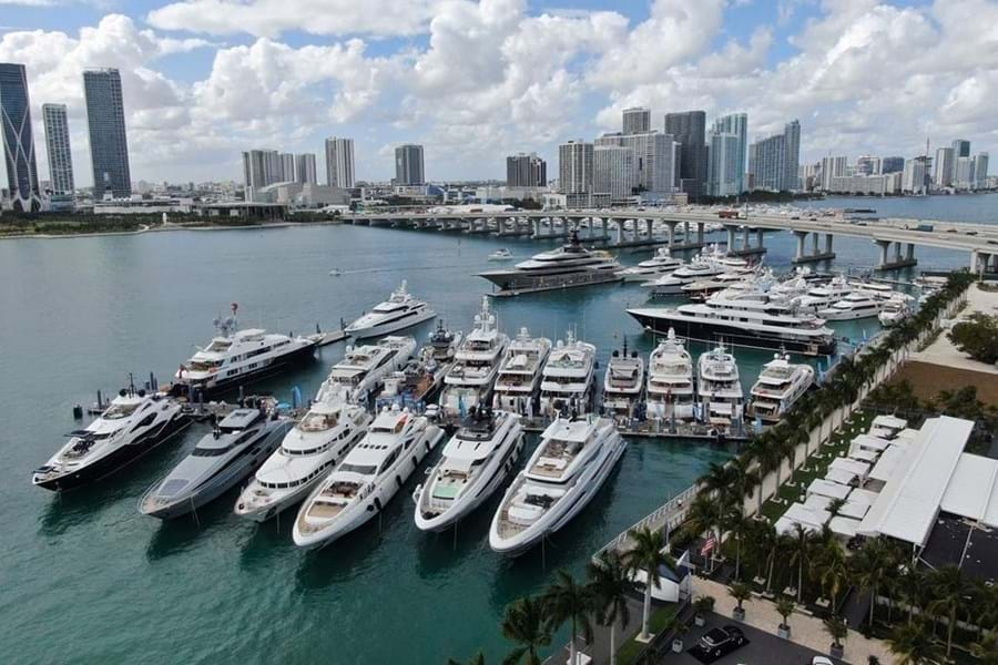 Island Gardens Marina, home to the SuperYacht Miami show