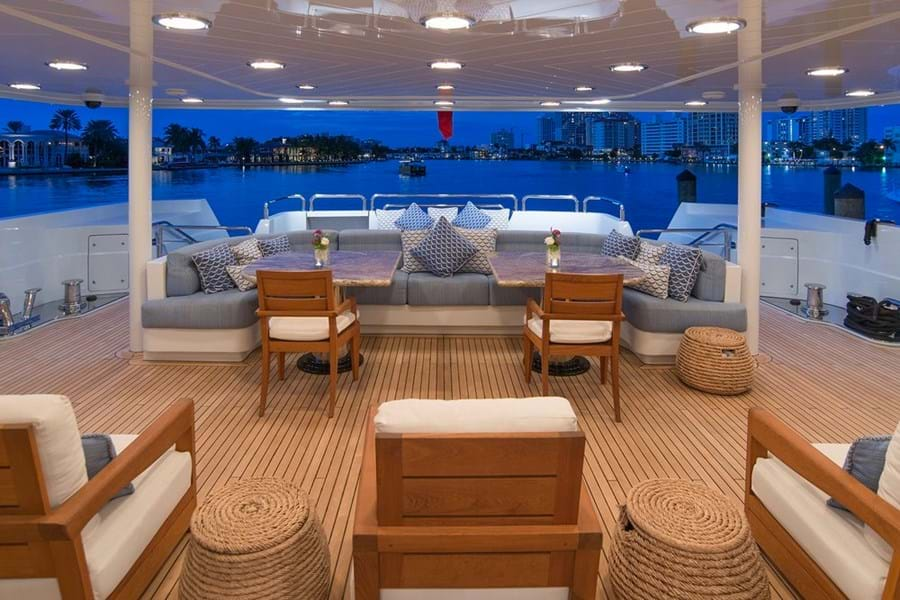 Plenty of versatile deck space on the main deck aft