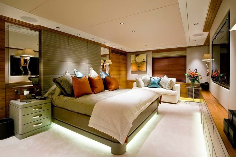 The main deck master suite