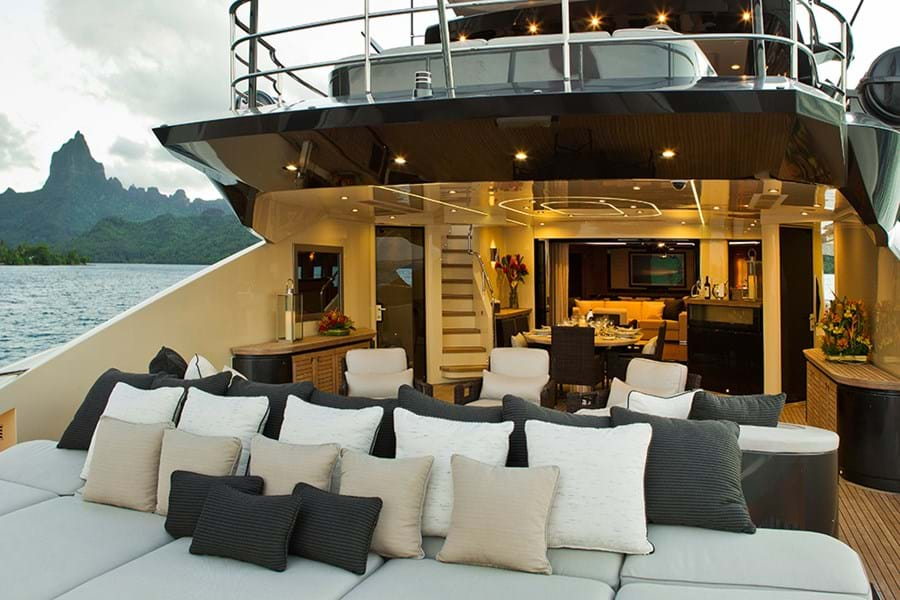 The main deck aft invites relaxation and entertainment