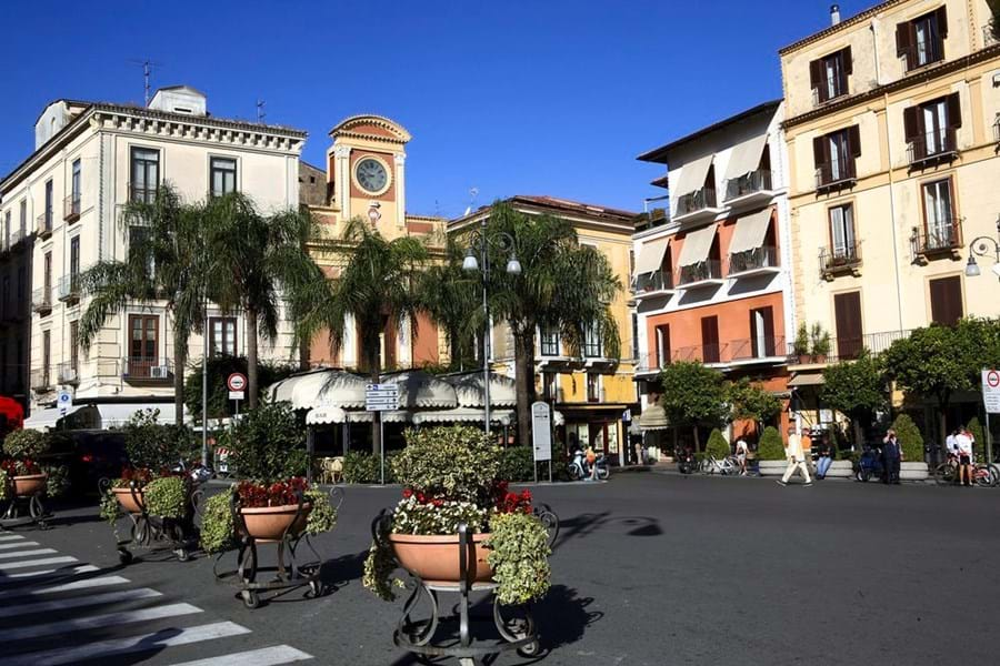 Bustling Piazza Tasso at the heart of Sorrento