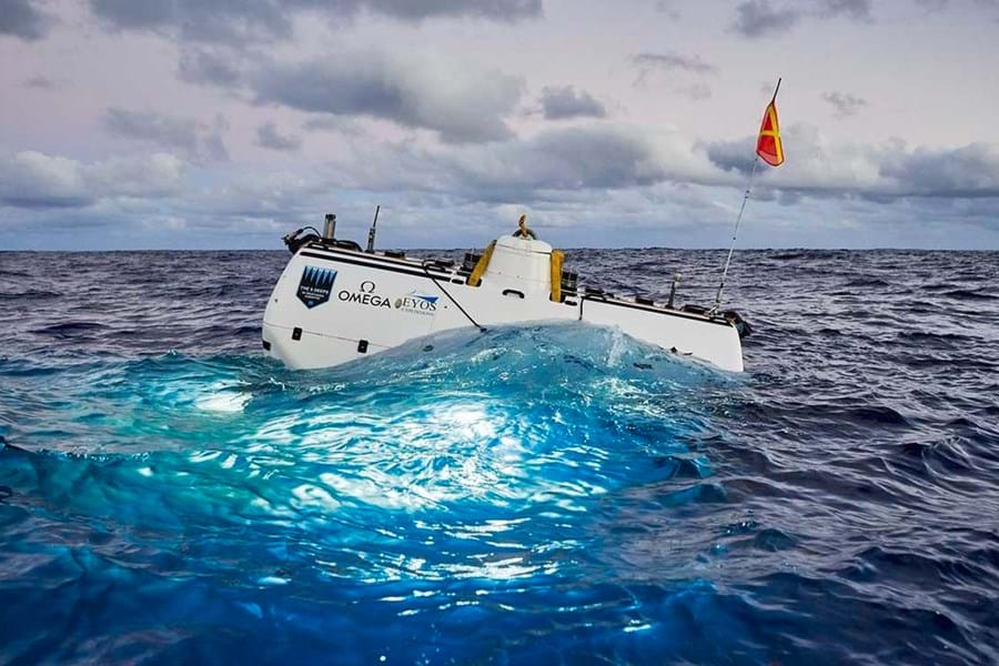 The Five Deeps submerisble Limiting Factor is the world's only submersible certified to dive to 11,000m (36,000ft)
