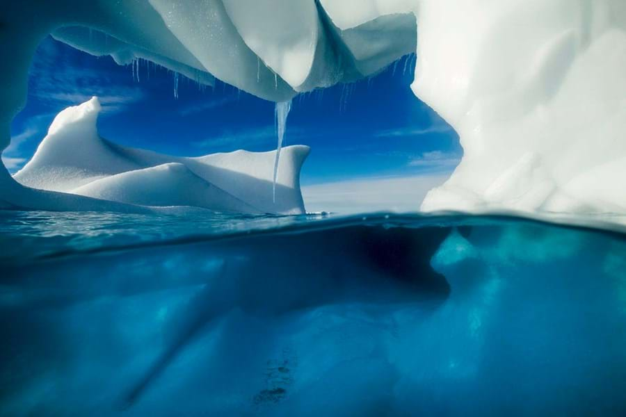 An iceberg is an awesome sight, seeing it from below is transformative