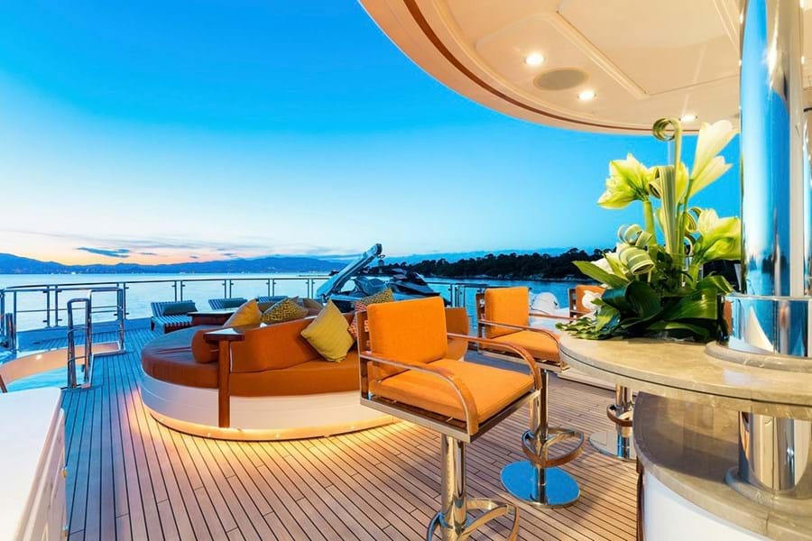Relax and play on her huge sun deck