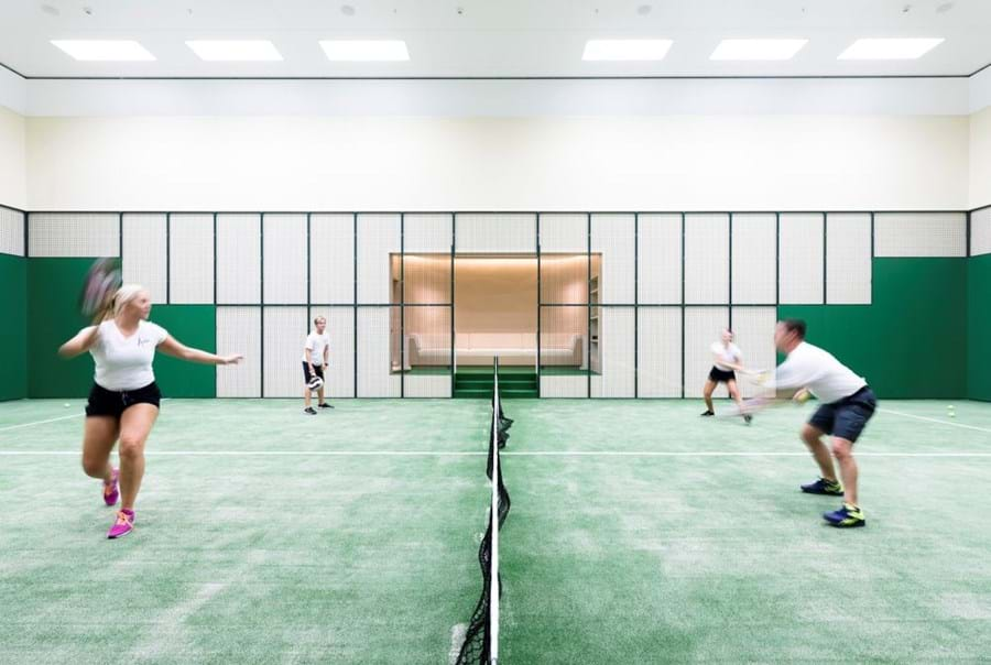 The padel tennis court around which 'the whole yacht was built'