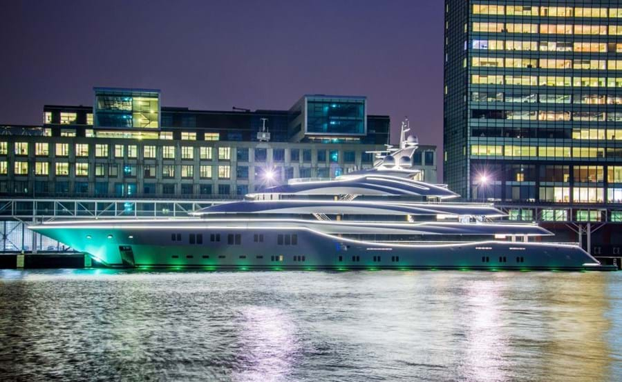 Celebrating the sculptural form of the 91m Lurssen-built LADY LARA